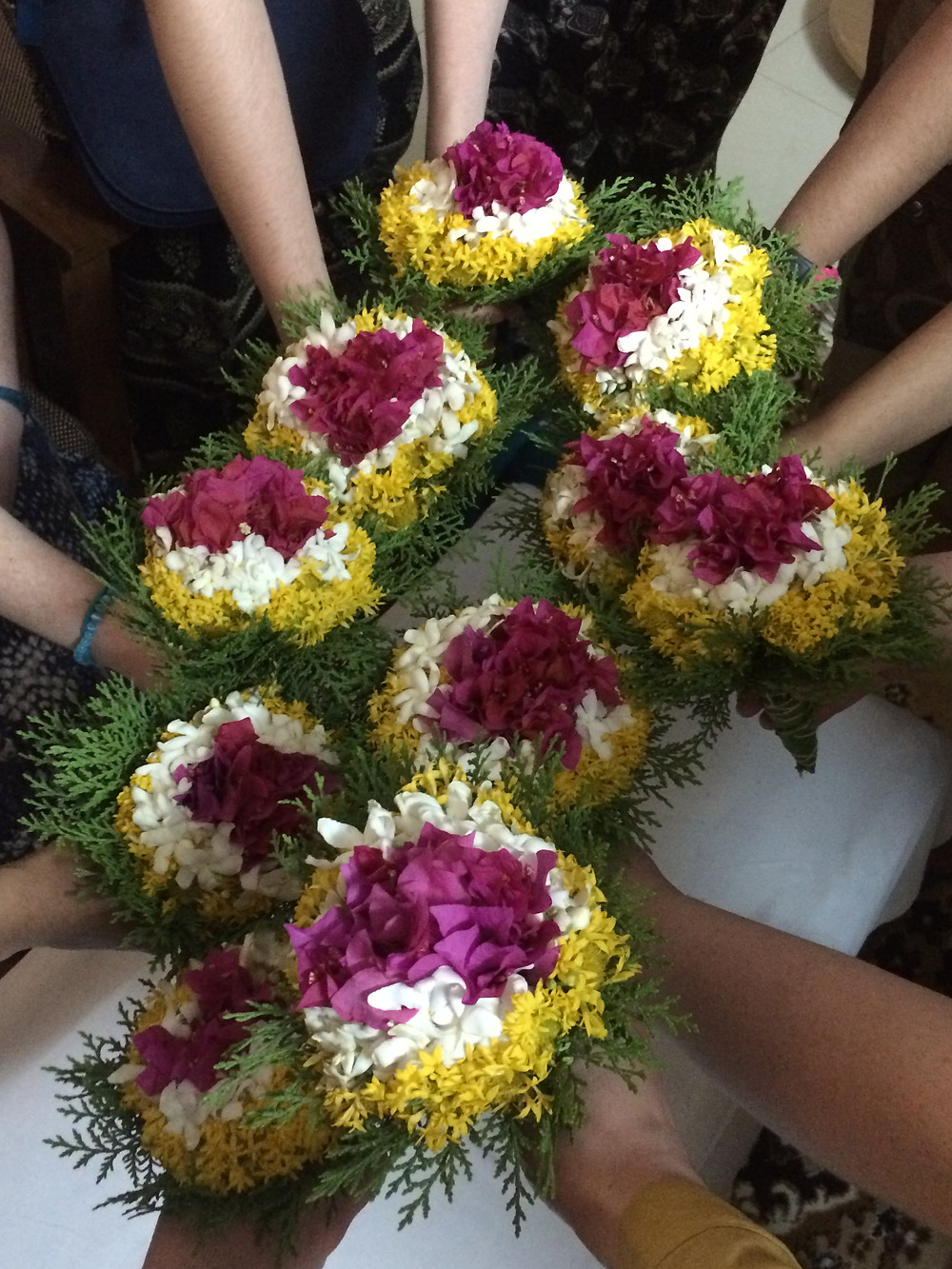 Flowers from the BCA faculty upon our arrival in Walchandnagar