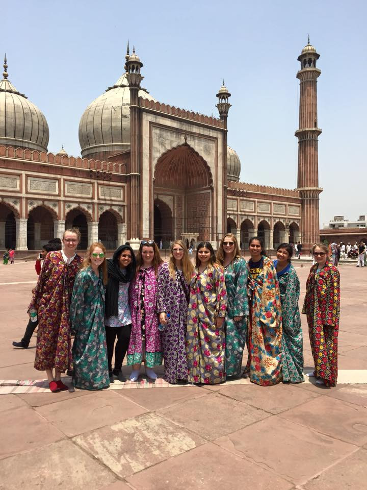 Our group at the Mosque in our fun robes!