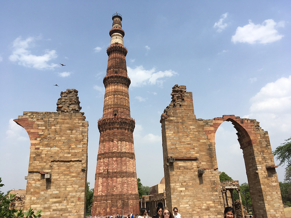 Qutb Minar, five-story tower