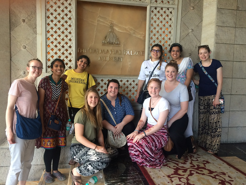 Our group in front of the Taj Palace