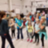 Girl scouts tour a lab