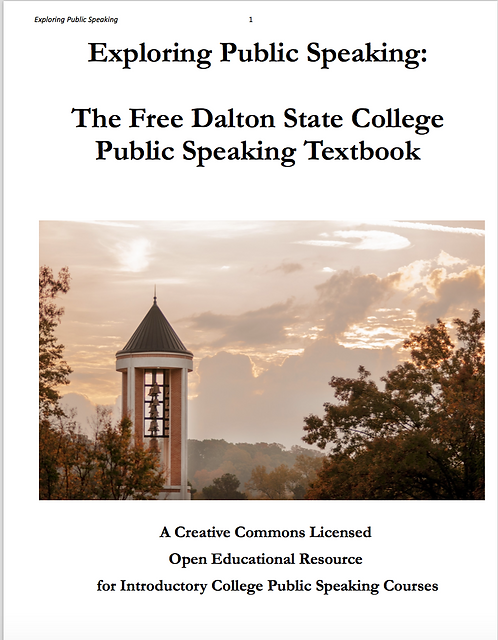 Exploring Public Speaking:  The Free Public Speaking Textbook, 4th edition