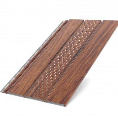 Deckenplatte perforiert Nussbaum (200 x 30,5 cm)