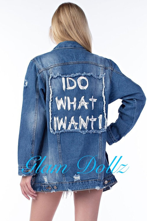 """Girl Boss"" Denim Jacket"