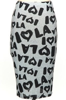 Heart L.A Pencil Skirt