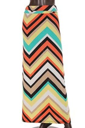 Chevron print maxi skirt