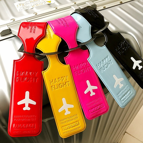 Travel  PU Leather Luggage Tag Cover gage Boarding Tags