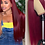 Thumbnail: 180% Straight 99j Lace Front Wig Red Burgundy  Colored Human Hair Wig
