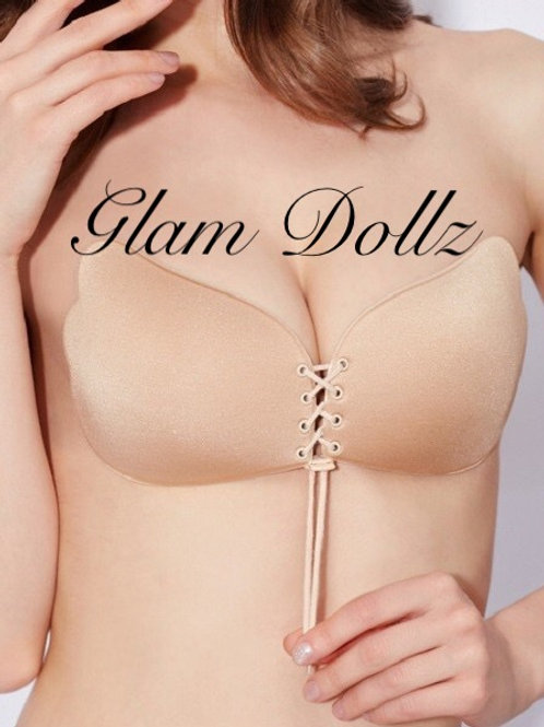 """The """"Glam"""" backless bra (Nude)"""