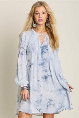 Sky Blue Shirt Dress