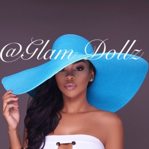 "The ""feeling blue"" floppy hat"