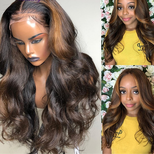 Highlight Lace Frontal Wigs Deep Part Lace Front  Human Hair Wigs Brazilian
