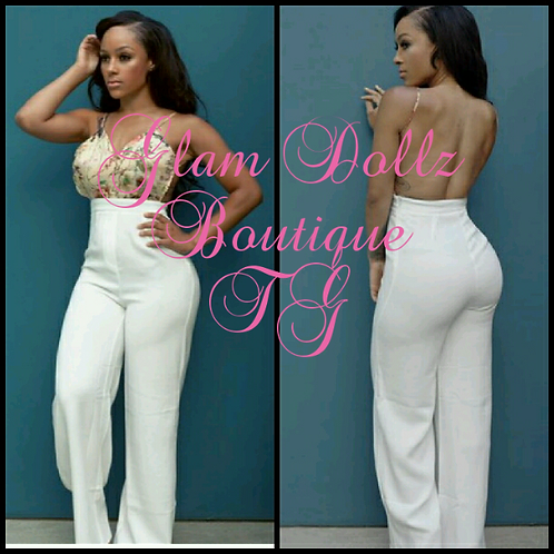 High waist jumpsuit