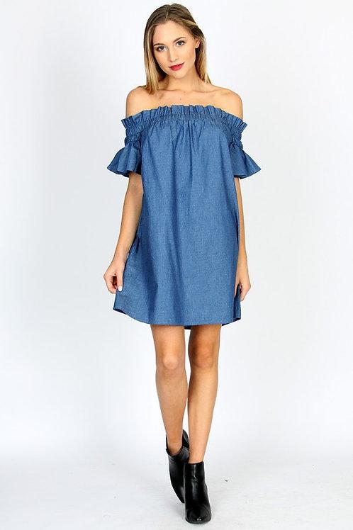 "The  ""kaila"" Light Denim Shirt Dress"