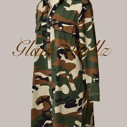 Camo Midi Jacket/Dress