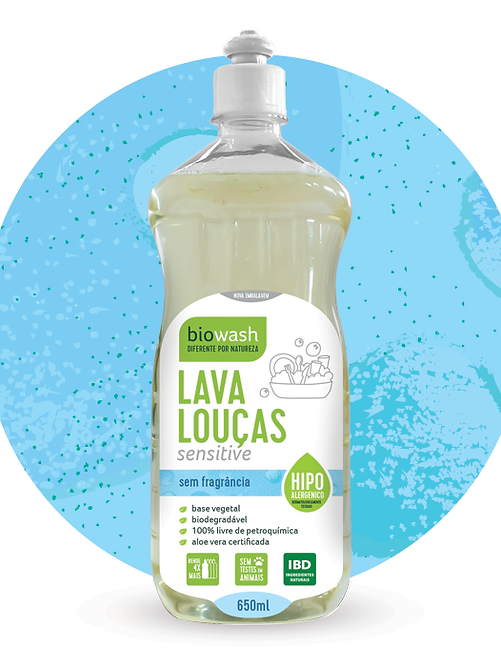 Lava Louças Sensitive Frasco 650 ML com textura sensitive