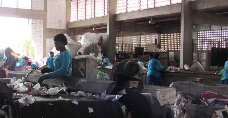 Cooperativa de Reciclagem atendida pelo selo eureciclo.