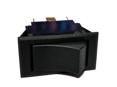 Rocker Switch, 6 Tabs, On-Off-On, 125VAC 15A, 250VAC 10A