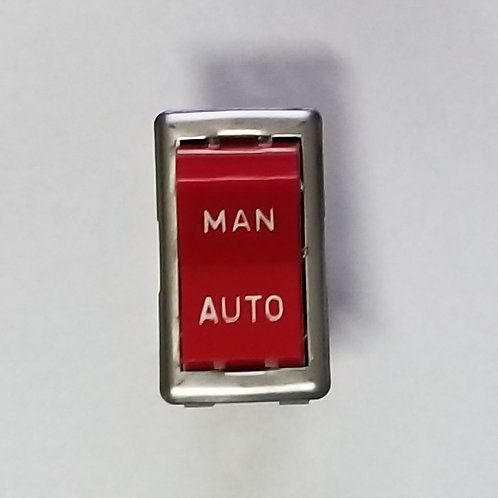 Red Rocker Switch, 6 Tabs, Manual/Auto, 125VAC 15A, 250VAC 10A