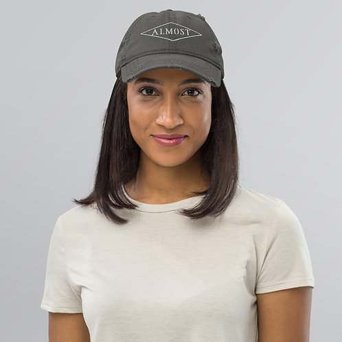 Logo Embroidered Distressed Dad Hat
