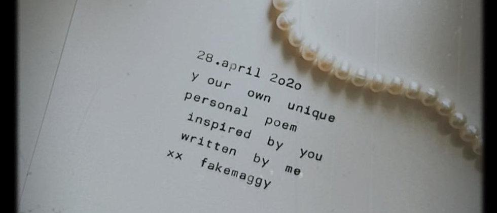 typewrite personal closeup