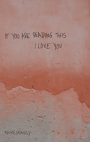 if you are reading this i love you cover