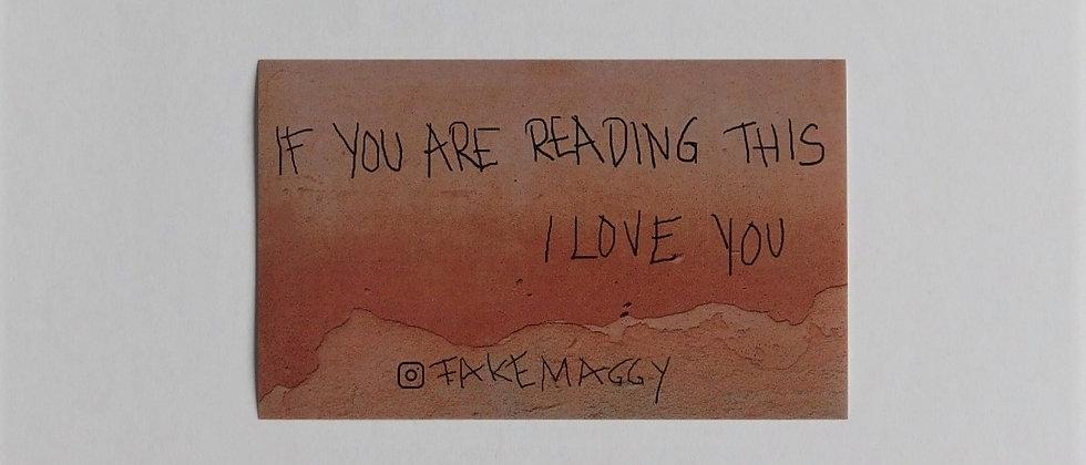 sticker I love you
