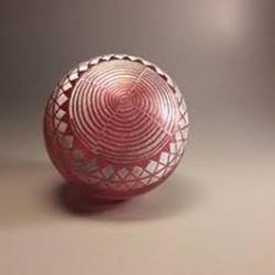 sculpture en verre soufflé et gravé