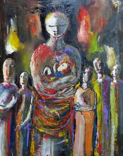 Les enfants d'Adèle huile 89 x 116