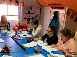 Classroom busy