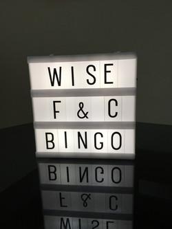 Wise Bingo Night