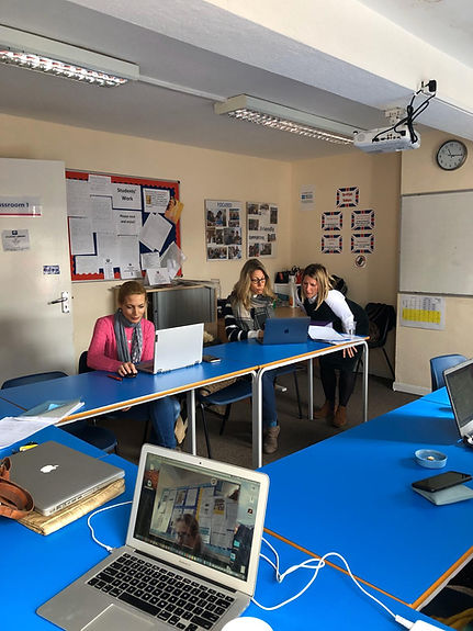 WISE staff practising their Online skill