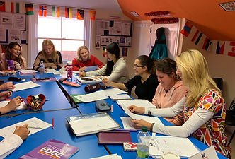 Classroom 2 students at Weybridge International School of English 2019