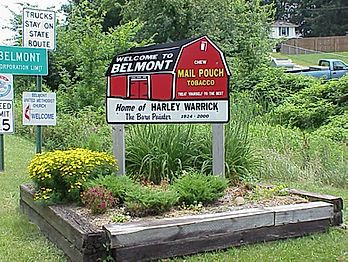 Belmont Welcome Sign