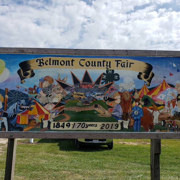 Belmont County Fair Sign