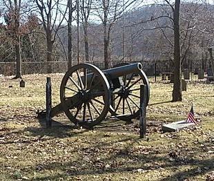 Civil War Cannon at Walnut Grove Cemetery