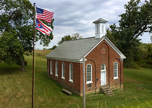 School house with flags.JPG