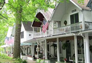 Epworth-Park-cottages-in-a-row-Chautauqu