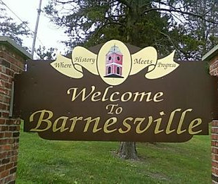 Barnesville Welcome Sign