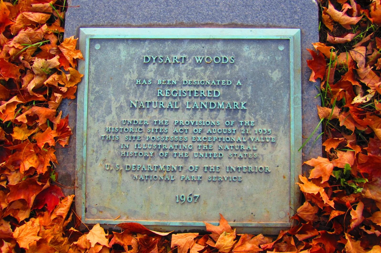 Dysart Woods Marker