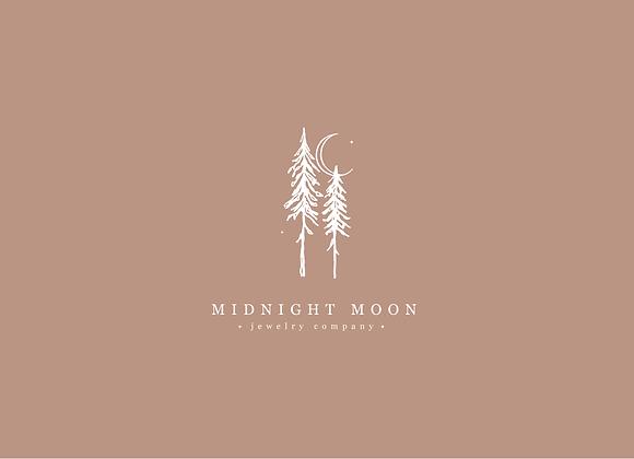 Midnight Moon Customizable Logo Design