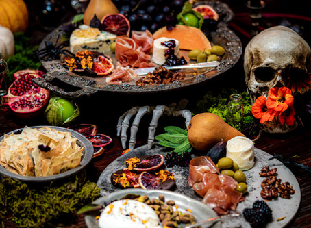 Spooky Halloween Tablescapes, Decor and Grazing Tables