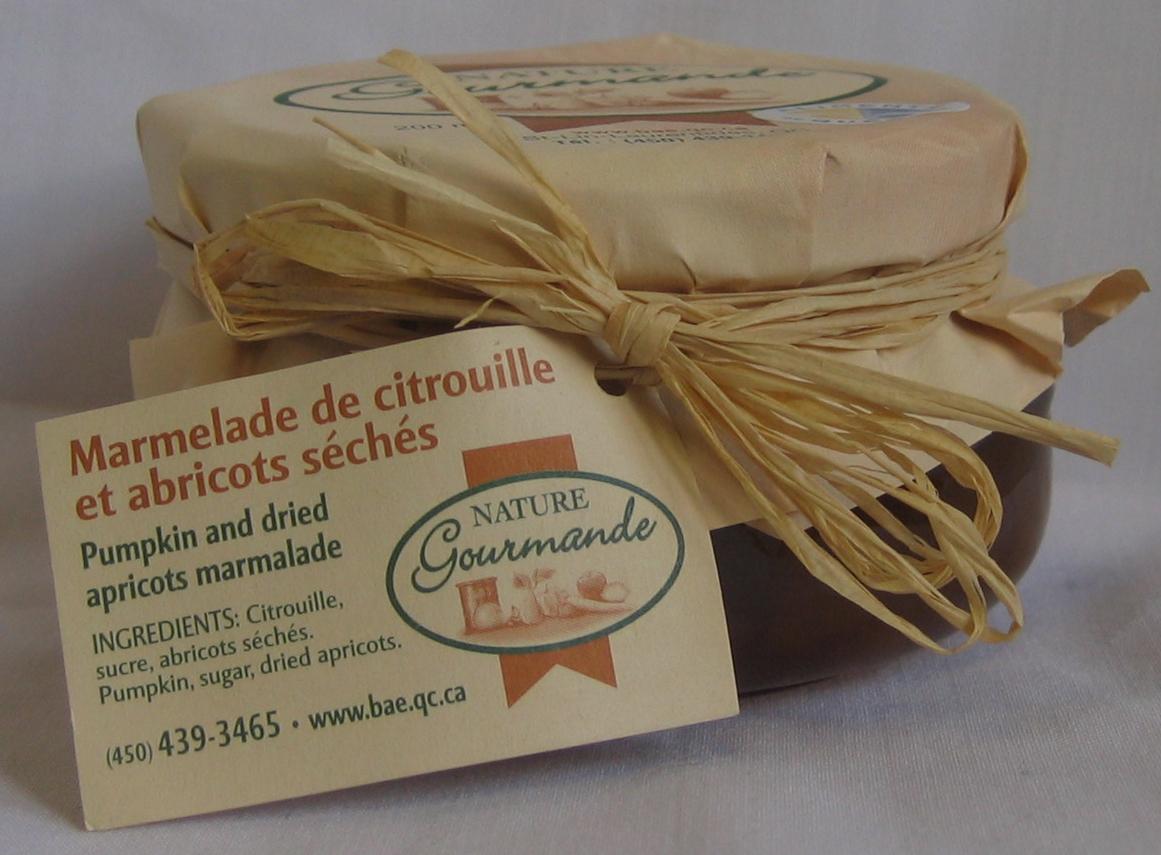 Marmelade CITROUILLE ET ABRICOTS