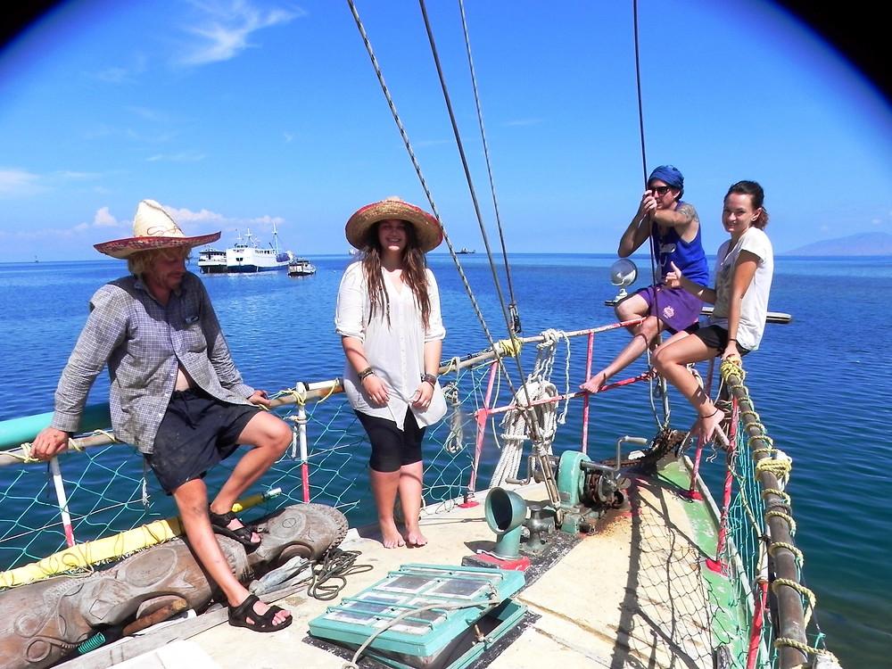Die Crew! von links nach rechts, Thiemo, Ich, Manuele und Reema!:)