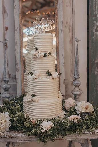 Rustic buttercream Sinkland Farms wedding venue Roanoke VA Blacksburg Virginia custom wedding cake bakery
