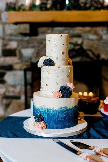 Sola wood flower custom wedding cake bakery Roanoke VA Valhalla Vineyards wedding venue Salem