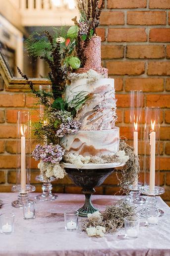Luxury custom wedding cake Roanoke VA Virginia wedding cake bakery Hunting Hills Country Club