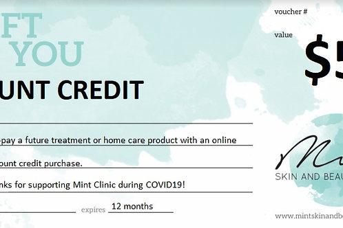 Clinic Credit $50
