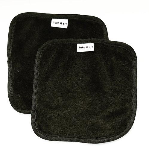 Mini Black Makeup Removing Towels (twin pack)