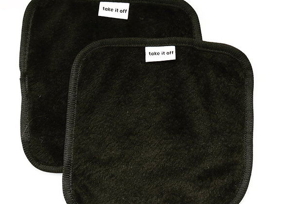 Take It Off Mini Black Makeup Removing Towels (twin pack)